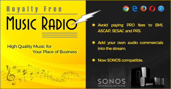Royalty Free Music Radio, Music for Your Retail Store, No